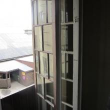 Vanhan ikkunan ulko ja sisäpuite